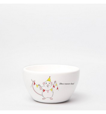 Глубокая тарелка Orner Store Праздничный мышонок