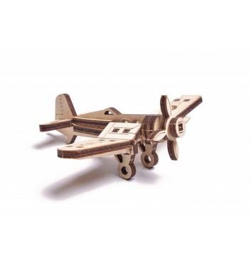 Механічний 3D пазл Wood Trick Вудік Літак Корсар