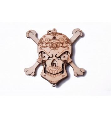 Механический 3D пазл Wood Trick Вудик Череп