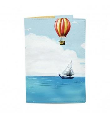 Обкладинка на паспорт Just cover На повітряній кулі