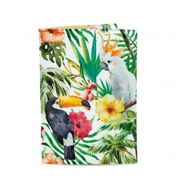 Обложка на паспорт Just cover Тропические птицы