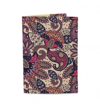 Обкладинка на паспорт Just cover Візерунки фіолетові