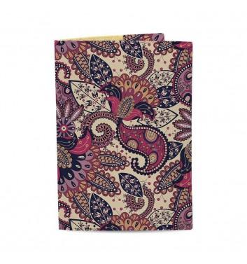 Обложка на паспорт Just cover Узоры фиолетовые