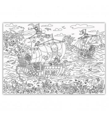Большая раскраска XL O'Kroshka Пираты: на краю света