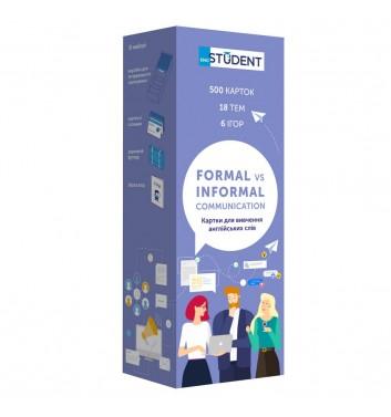 Картки з англійської мови Eng student Формальне та неформальне спілкування (500)