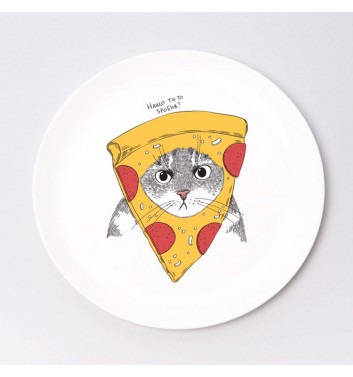 Тарелка Orner Store Кот в пицце