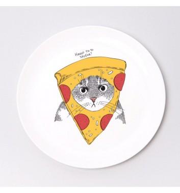 Тарілка Orner Store Кіт в Піцці