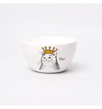 Тарелка глубокая Orner Store Кошка в короне