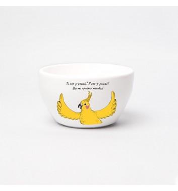 Тарелка глубокая Orner Store Попугай