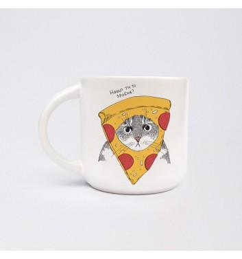 Чашка Orner Store Кіт у піцці