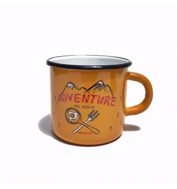 Чашка металева Gozee Advanture yellow
