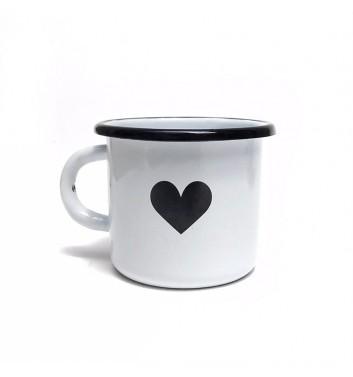 Чашка металева Gozee Сердечко White