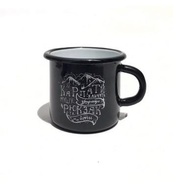 Чашка металева Gozee Карпати кличуть Black