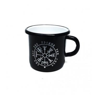 Чашка металева Gozee Компас вікінга Black