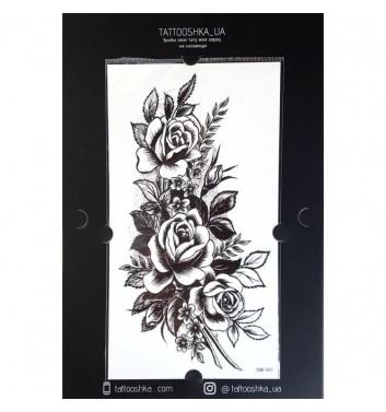 """Тату Tattooshka_ua """"Гілочка із трояндами"""""""