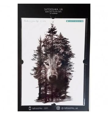"""Тату Tattooshka_ua """"Вовк в тіні лісу"""""""