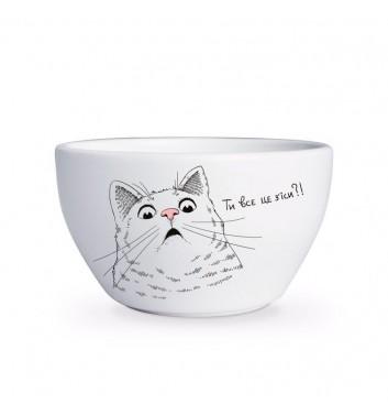 Глубокая тарелка Orner Store Удивленный кот