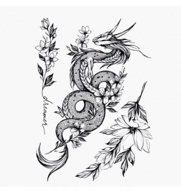 Временное тату Arley Sign Мифы цветочных народов