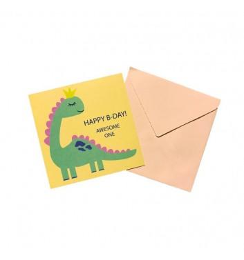 Мини открытка EgiEgi Cards Happy B-Day awesome one