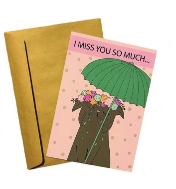 Открытка EgiEgi Cards I miss you so much