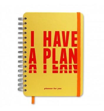 "Большой планер Orner Store ""I have a plan"" yellow"