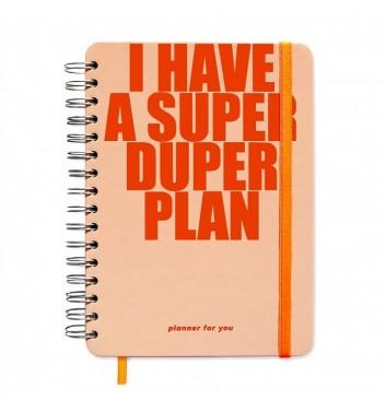 "Большой планер Orner Store ""I have a SUPER DUPER plan"" peachy"