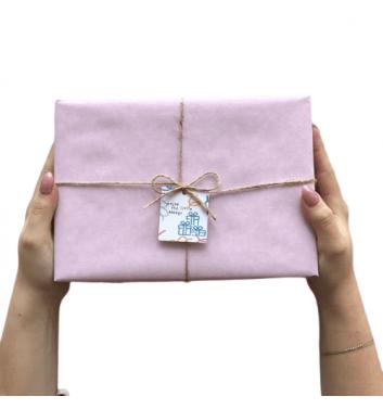 Упаковка в бумагу Light pink