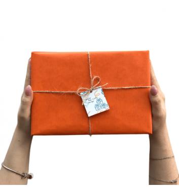 Упаковка в бумагу Orange