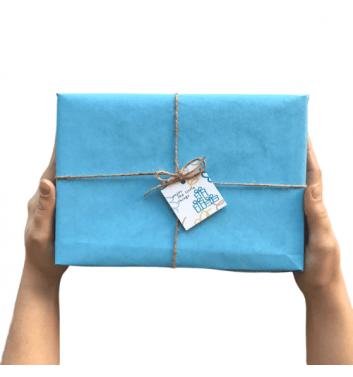 Упаковка в бумагу Blue