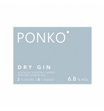 Алкогольні цукерки Ponko sweets Gin 6 цукерок
