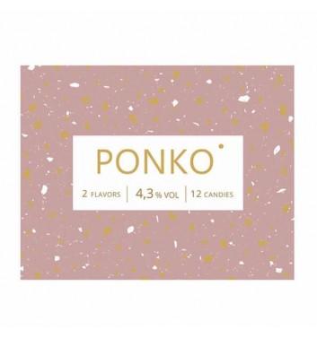 Алкогольные конфеты Ponko Love Шампаське & Белое вино 12 конфет