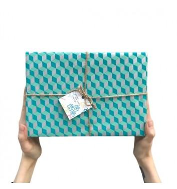 Упаковка в бумагу 3d Cubes