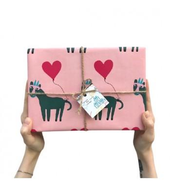 Упаковка в бумагу Lovely Animal