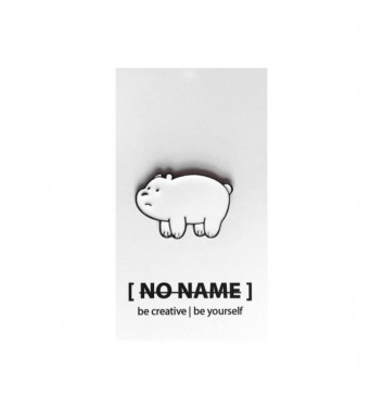 Значок No name Bare Bears White 2
