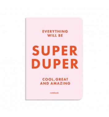 Блокнот в клетку Orner Store Super Duper розовый