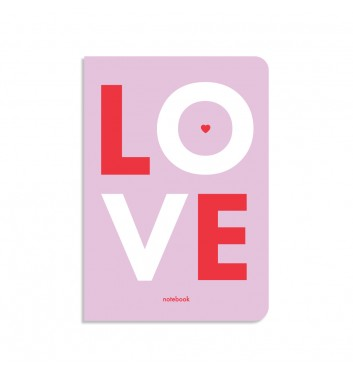 Блокнот в клетку Orner Store Love фиолетовый