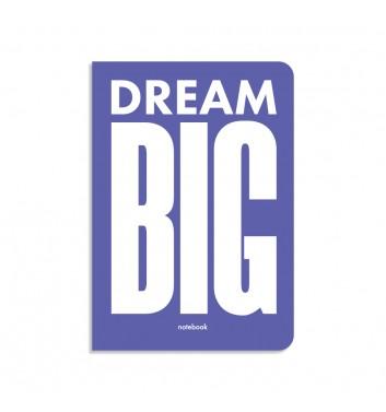 Блокнот в клетку Orner Store Dream BIG фиолетовый