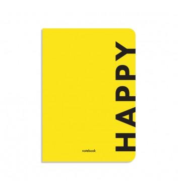 Блокнот в клетку Orner Store Happy желтый