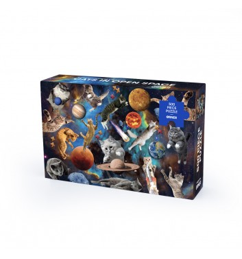 Пазл Orner Store «Котики у вiдкритому космосi» 500 елементiв