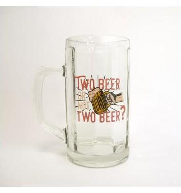 """Пивной бокал Papa Design """"Two beer or not"""""""