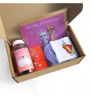 Подарунковий бокс «For my love: happy alpaca set»